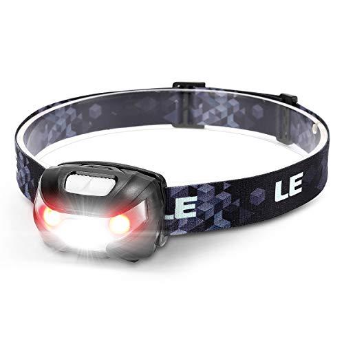 LE Stirnlampe LED Wiederaufladbar, USB Kopflampe 1300 Lux mit Rotlicht& 5 Lichtmodi, IPX4 wasserdichte Mini...