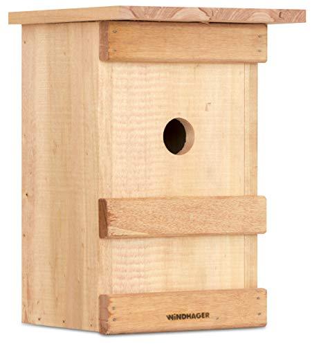Windhager Nistkasten BIRDY, Vogelhaus Brutkasten Nisthilfe Vogelnistkasten, aus Massivholz, inklusive...