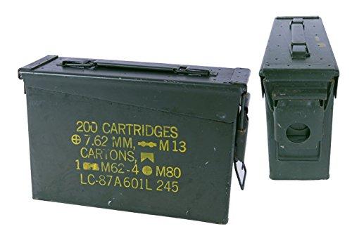 Armeeware 2er Set US Munitionskiste klein gebraucht 27,5 x10 x18 Munikiste Werkzeugkiste Metallkiste...