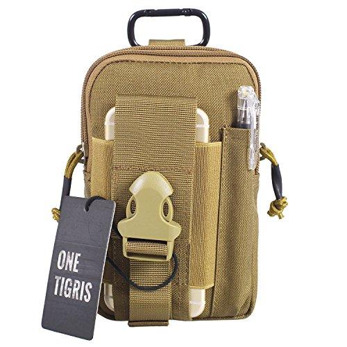 OneTigris kompakt MOLLE EDC Tasche Tac Pouch praktische Gerät Beutel (Braun)
