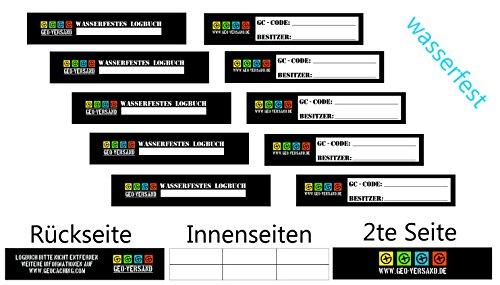 geo-versand NEUHEIT, Schluss mit Logbuch Brei !!Kunststoff Logbücher !!10 x Petling Logbuch für ab 9 cm...